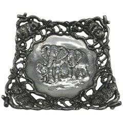 Arthur Court Cast-Aluminum Bowl with Elephant Motif
