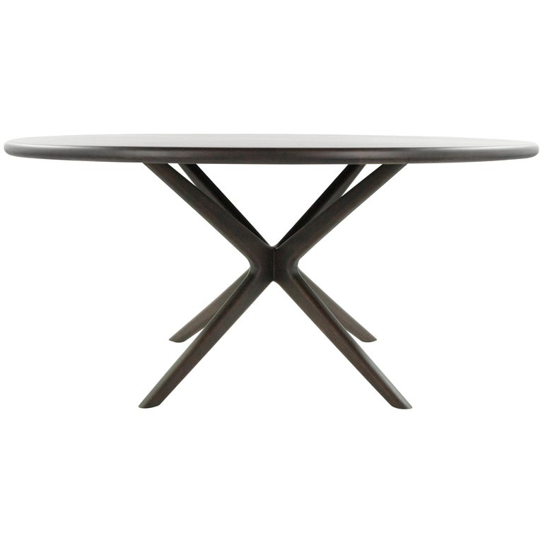 Walnut Gazelle Collection Dining Table For