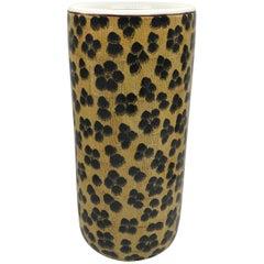 1980s Leopard Motif Umbrella Stand
