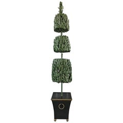 1970s Italian Tole Life-Size Topiary Sculpture