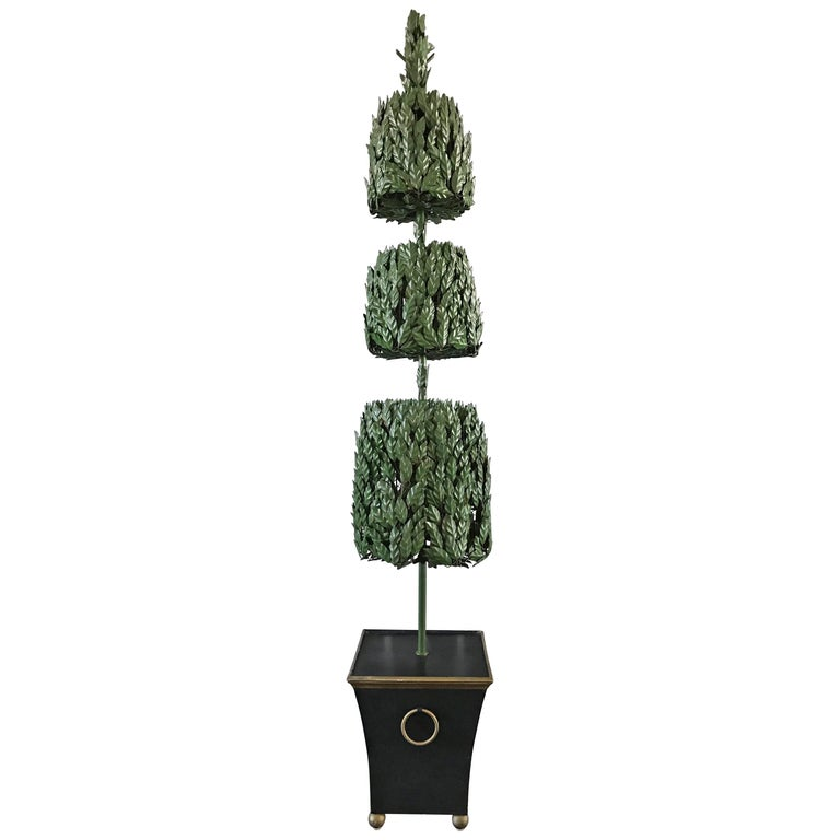 1970s Italian Tole Life-Size Topiary Sculpture For Sale