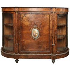 Superb English 19th Century Walnut Credenza Server Sideboard, Console Table