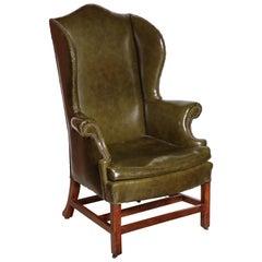 George III Mahogany Wing Chair