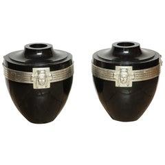 Pair of Art Deco Urns