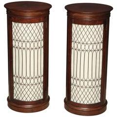 Pair of Baltic Cylinder Pedestals