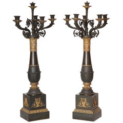 Pair of French Empire Candelabra
