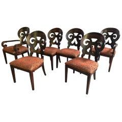 """Set of Six Arhaus """"Jordan"""" Dining Chairs"""