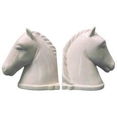Pair of Ceramic Horse Head Bookends