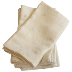 Linen Napkins with Polka Dots