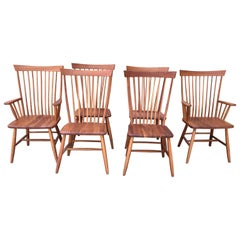 Set of 6 Amish Style Cherry Dining Chairs