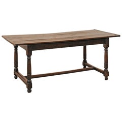 Early 19th Century Walnut Dining Table or Desk from Italy
