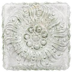 Midcentury Radial Bloom Glass Flush Mount