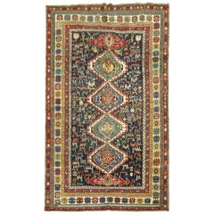 Tribal Antique Geometric Bird Shirvan Rug