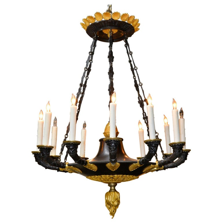 19th Century French Empire Chandelier For Sale