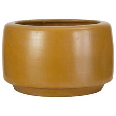 CP-17 Tire Planter by John Follis for Architectural Pottery in Yellow Glaze