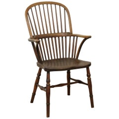 Late 19th Century English Thames Valley Windsor Chair in Ash and Elm