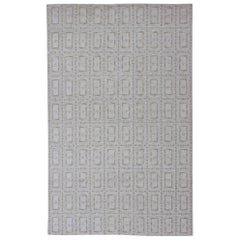 Very Large Scandinavian Flat-Weave Design Rug with Geometric All-Over Design