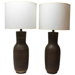 Pair of Tall Ceramic Table Lamps by Design Technics