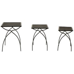 Nesting Tables, Set of Three by John Salterini for Outdoor/Patio/ Pool Use