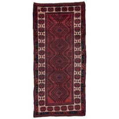 Antique Rustic Kurdish Rug