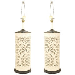 Asian Chinese Style Porcelain Table Lamps