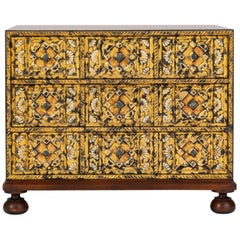 Small Walnut Dresser in Spanish Revival Style by John Widdicomb