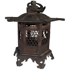 Japanese Lantern in Tole, 19th Century