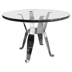 Pedro Ramírez Vázquez Chromed Steel Side Table