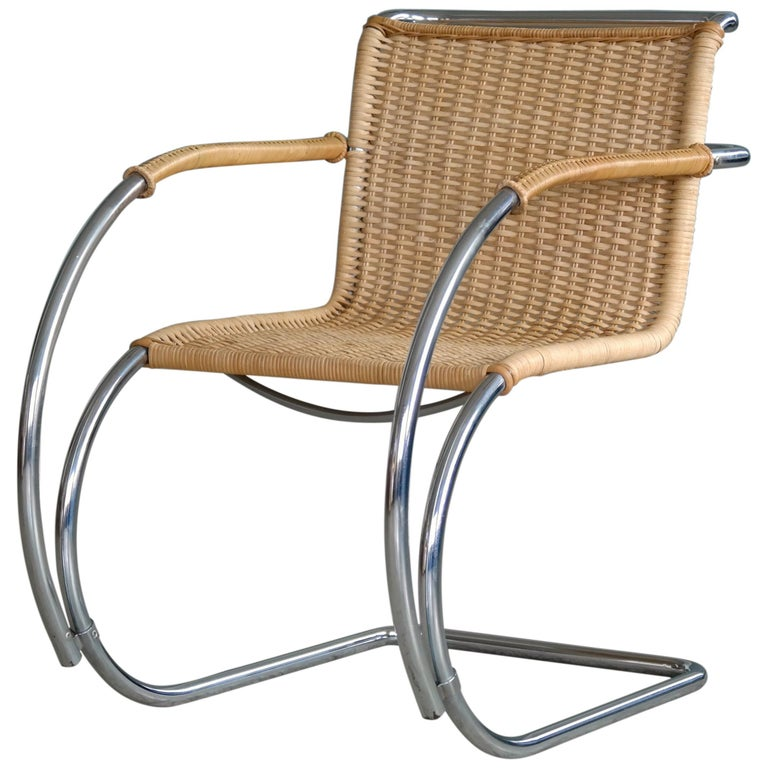 Mies Van Der Rohe Mr20 Bauhaus Lounge Chair In Chromed Steel And