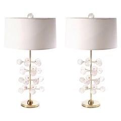 Rock Crystal Orb Tree Lamps