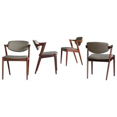 Set of Four Kai Kristiansen Model 42 Rosewood Dining Chairs for Schou Andersen
