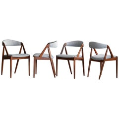 Kai Kristiansen in Teak Dining Chairs Model 31 for Schou Andersen