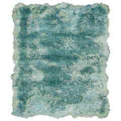 Riot - Wool Silk Blend High Pile Hand Knotted Carpet Rug