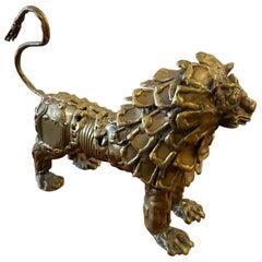 Pal Kepenyes, Lion, Brutalist Bronze Sculpture