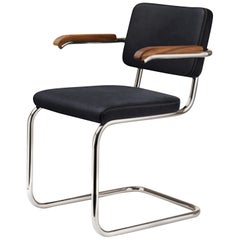 Tubular Steel Classic Thonet Leather S64 Cantilever Armchair