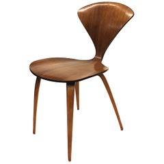 Vintage Mid-Century Modern Arm-Less Pretzel Chair by Norman Cherner for Plycraft