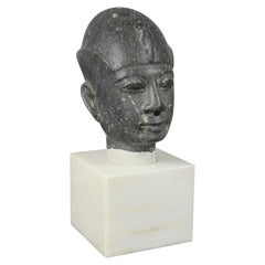 Grand Tour Egyptian Basalt Bust