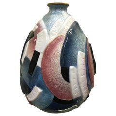Enamel over Copper Art Deco Vase by Camille Faure