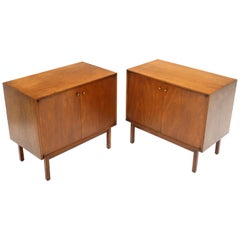 Pair of Two-Door Utility Cabinets Hall Chests