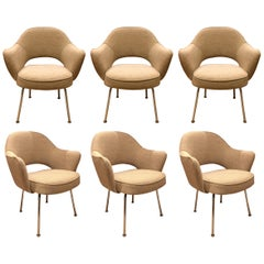 Set of Six Dining Armchairs by Eero Saarinen for Knoll