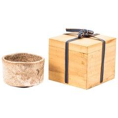 Japanese Shino Pottery Tea Bowl for Tea Ceremony, Meiji Period, 19th Century