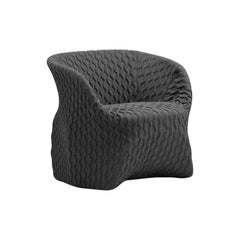 Uma Armchair in Textured Gray Fabric by Busnelli