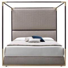 Stardust Four Poster Bed with Gold Frame by Busnelli