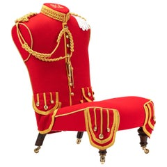 Stunning Antique Hall Chair 'The Military Pipers Chair' Victorian, circa 1890