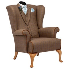 Midcentury Wing Back Armchair 'the Saville Row' Bespoke Armchair Unique