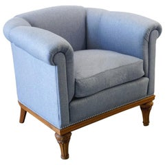 Upholstered Armchair, Made in the 1940s