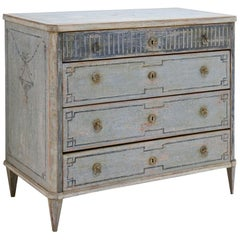 Gustavian-Style Painted Chest of Drawers, 19th Century