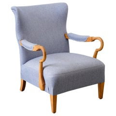 Original Armchair in Neutral Fabric of the 1940s