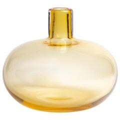 Yali Murano Hand Blown Monastiri #1  Vase Amber