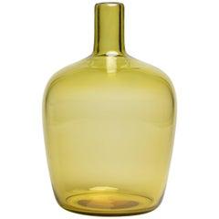 Yali Murano Hand Blown Monastiri Bottle Vase Green